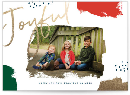 Brushes Foil-Pressed Holiday Cards