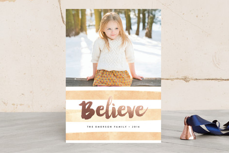 Believe Foil-Pressed Holiday Cards