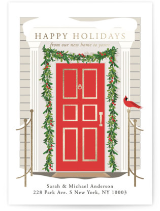 From our home to yours Foil-Pressed Holiday Cards