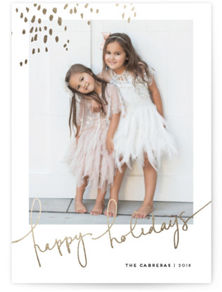 Let Love Shine Foil-Pressed Holiday Cards