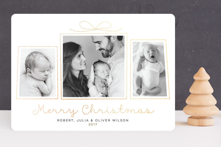 """""""Great Gifts"""" - Foil-pressed Holiday Cards in Glittery Gold by Jessie Steury."""