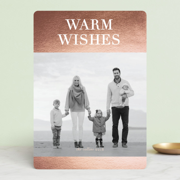 """""""Patina"""" - Foil-pressed Holiday Cards in Copper by kelli hall."""