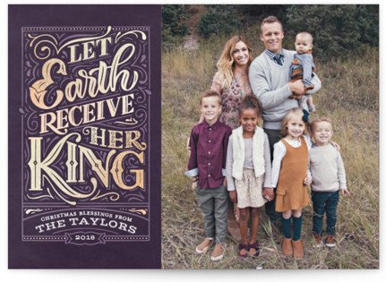 Let Earth Receive Her King Foil-Pressed Holiday Cards