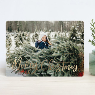 Modern Merry Greeting Foil-Pressed Holiday Cards