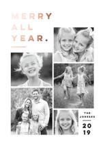 Merry All Year. Foil-Pressed Holiday Cards By Pink House Press