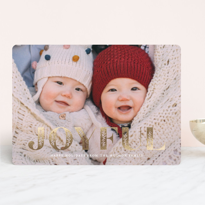 """""""Inlay"""" - Foil-pressed Holiday Cards in Ivory by Lauren Chism."""