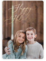 This is a green foil stamped holiday card by Ekko Studio called Understated Elegance with foil-pressed printing on smooth signature in standard.
