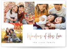 This is a black foil stamped holiday card by Pixel and Hank called Wonder Collage with foil-pressed printing on smooth signature in standard.