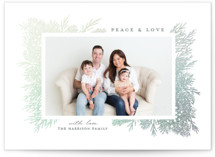 This is a white foil stamped holiday card by iamtanya called Winter Wishes with foil-pressed printing on smooth signature in standard.
