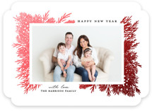 This is a red foil stamped holiday card by iamtanya called Winter Wishes with foil-pressed printing on smooth signature in standard.