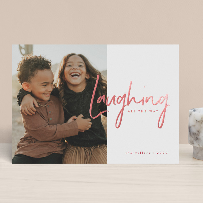 Laughing Holiday Card