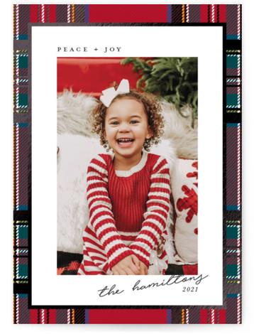 Festive tartan Foil-Pressed Holiday Cards