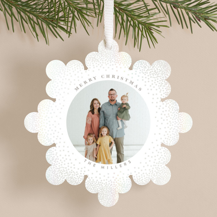 """""""Snowflake"""" - Gloss-press™ Holiday Ornaments in Snow by Owl and Toad."""
