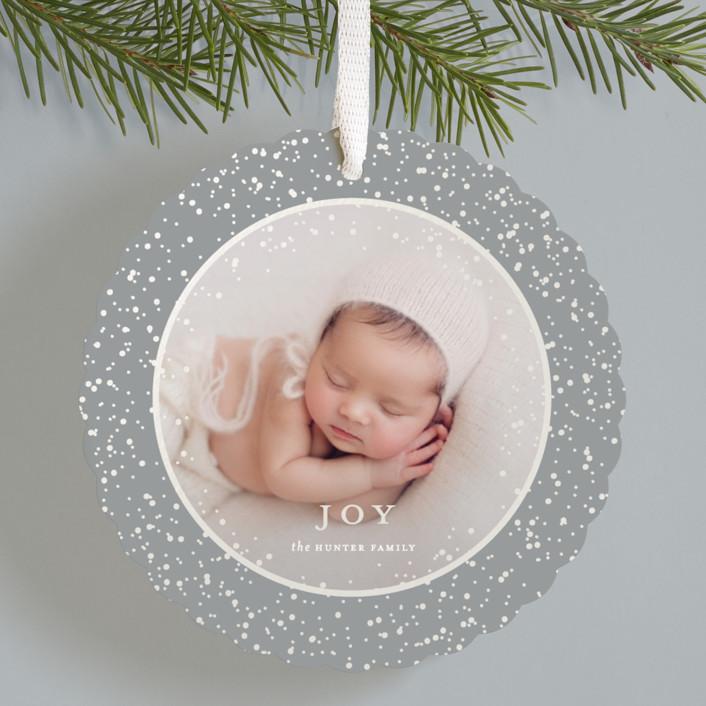"""Sparkling Keepsake"" - Gloss-press™ Holiday Ornaments in Snow by Nicoletta Savod."