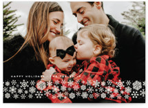 This is a white gloss press holiday card by Erica Krystek called snowdrift with gloss-press printing on smooth signature in standard.