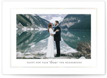 This is a green gloss press holiday card by Jana Volfova called Simply Love with gloss-press printing on smooth signature in standard.