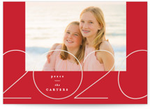This is a red gloss press holiday card by Creo Study called Golden Year with gloss-press printing on smooth signature in standard.