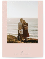 This is a pink gloss press holiday card by Nicoletta Savod called Glisten with gloss-press printing on signature in standard.