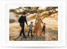 This is a white gloss press holiday card by Paper Dahlia called rustique with gloss-press printing on smooth signature in standard.