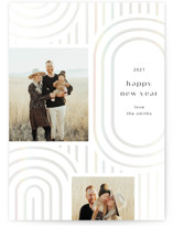 This is a white gloss press holiday card by Itsy Belle Studio called Panton with gloss-press printing on smooth signature in standard.