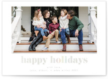 This is a white gloss press holiday card by AK Graphics called Simple Wishes with gloss-press printing on smooth signature in standard.