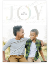 This is a grey gloss press holiday card by Julee London called Sparkle with gloss-press printing on smooth signature in standard.