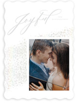 This is a grey gloss press holiday card by Heather Cairl called Snow with gloss-press printing on smooth signature in standard.