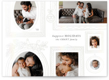 This is a white gloss press holiday card by Aaelia Creative Lab. called Gallery Wall with gloss-press printing on smooth signature in standard.