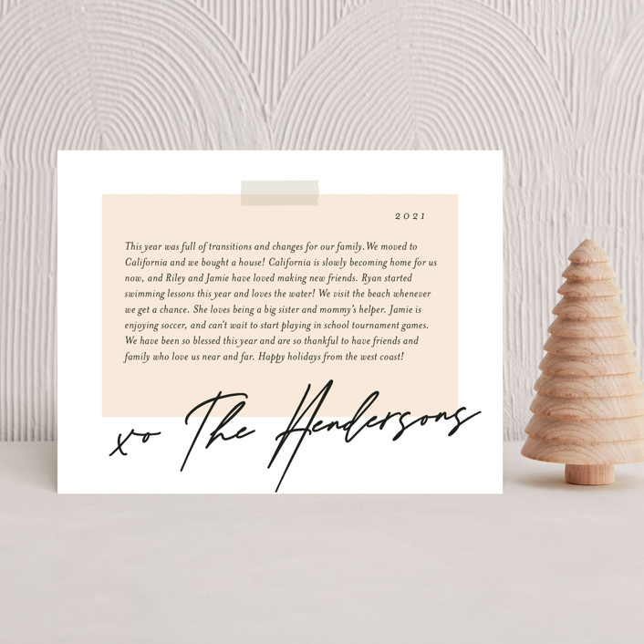 """""""Snapshots"""" - Holiday Insert Cards in Ink by That Girl Press."""