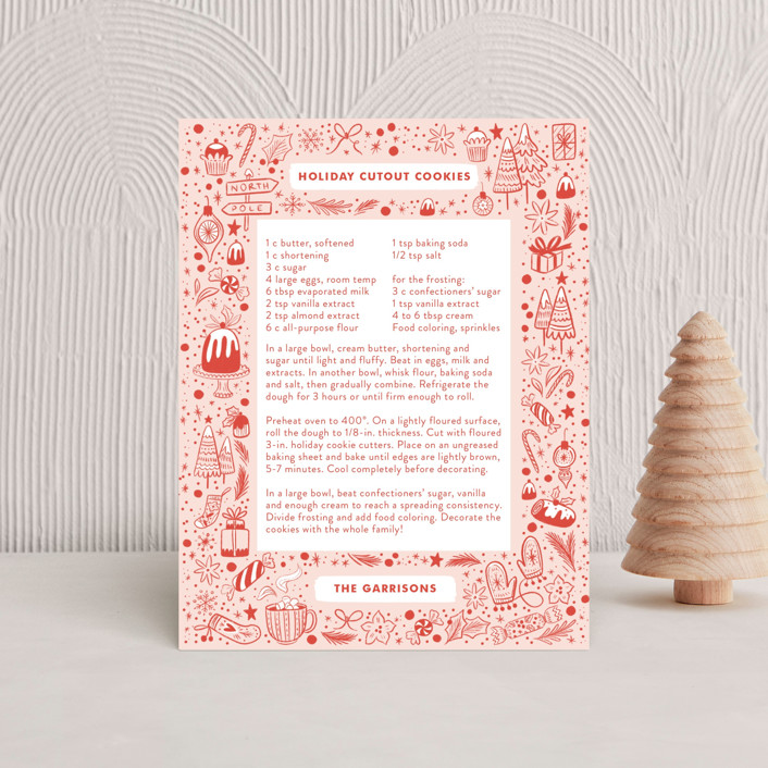 """""""My Favorite Things"""" - Holiday Insert Cards in Cherry by Paper Raven Co.."""
