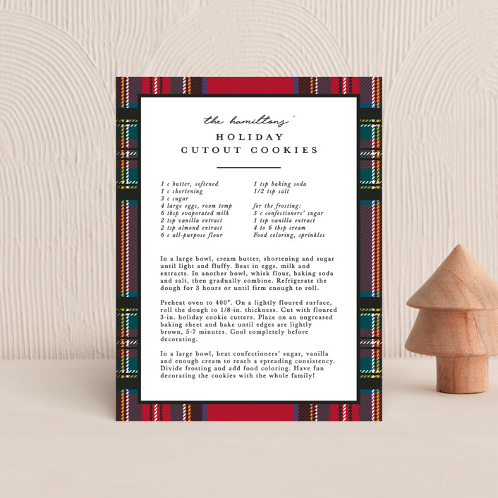 """Festive tartan"" - Holiday Insert Cards in Holly by Hudson Meet Rose."