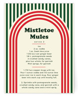This is a green holiday enclosure card by Baumbirdy called Retro Stripes with standard printing on signature in standard.