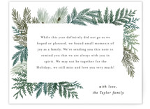 This is a green holiday enclosure card by Alethea and Ruth called Evergreen Variety with standard printing on signature in standard.