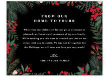 This is a black holiday enclosure card by Alethea and Ruth called Cranberry Garden with standard printing on signature in standard.