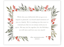 This is a red holiday enclosure card by Everett Paper Goods called Abundant with standard printing on signature in standard.