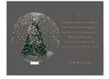 This is a grey holiday enclosure card by Lori Wemple called Christmas Snowglobe with standard printing on signature in standard.