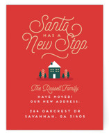 This is a red holiday enclosure card by Erica Krystek called New Stop with standard printing on signature in standard.
