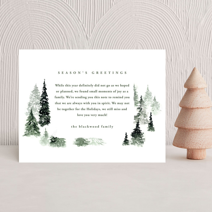 """""""fall of snow"""" - Holiday Insert Cards in Evergreen by Anastasia Makarova."""