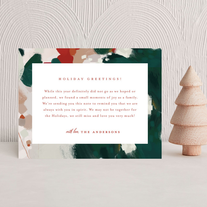 """""""Blithely"""" - Holiday Insert Cards in Holly by Alaina Cherup."""