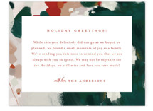 This is a green holiday enclosure card by Alaina Cherup called Blithely with standard printing on signature in standard.