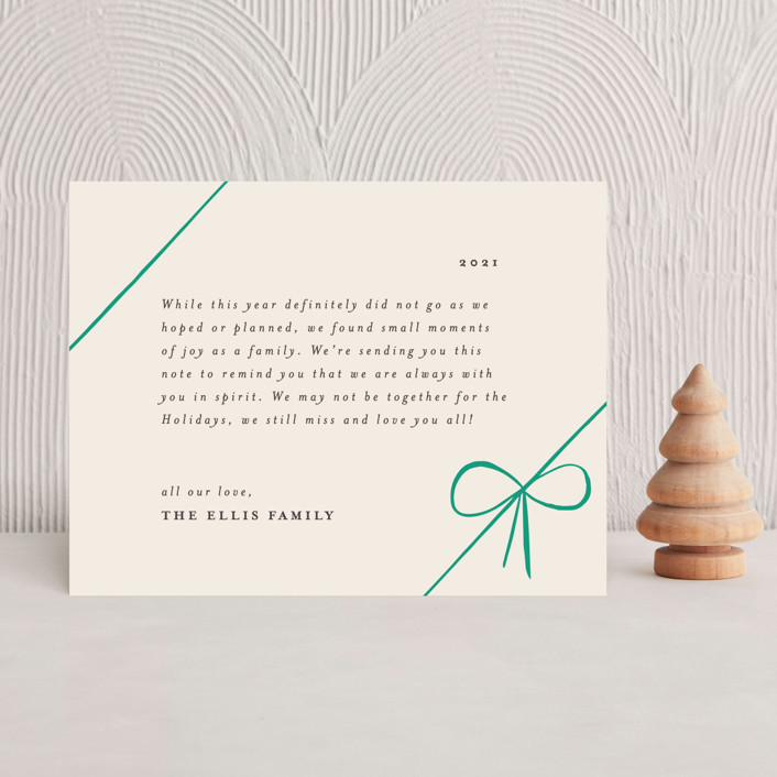 """""""Gifts"""" - Holiday Insert Cards in Emerald by Rebecca Daublin."""