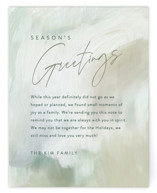 This is a green holiday enclosure card by Hooray Creative called Pastoral Canvas with standard printing on signature in standard.