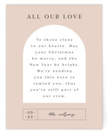 This is a pink holiday enclosure card by Nazia Hyder called Doorway. with standard printing on signature in standard.