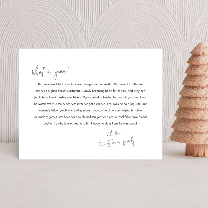 """Scripted Header"" - Holiday Insert Cards in Snow by Minted."