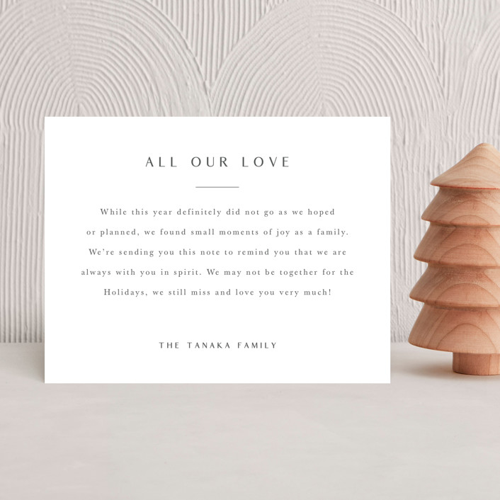 """""""Serif Note"""" - Holiday Insert Cards in Snow by Minted."""