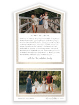 This is a white all in one holiday card by Snow and Ivy called Drawn Frame with foil-pressed printing on value cover in all-in-one.
