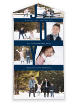 This is a blue all in one holiday card by Jennifer Wick called Captured Joy with standard printing on value cover in all-in-one.