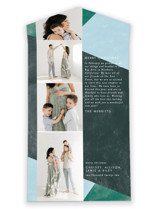 This is a blue all in one holiday card by Ella Weaver called Bold Blocks of Color with standard printing on value cover in all-in-one.