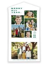 This is a green all in one holiday card by Pink House Press called Merry All Year. with standard printing on value cover in all-in-one.