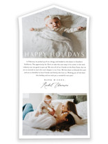 This is a white all in one holiday card by Jessica Williams called Simply with standard printing on value cover in all-in-one.